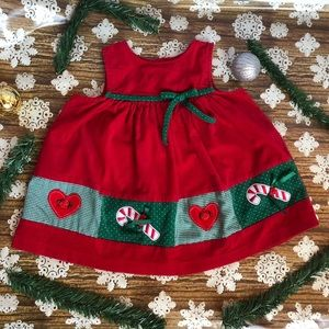 Rare Editions Girls Corduroy Holiday Fun Dress